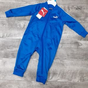 Nwt Puma one piece blue zip up track suit 6-9M